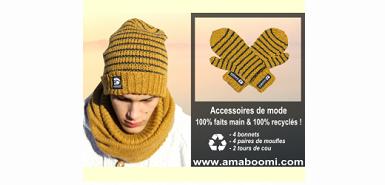 Des accessoires tricotés à tester gracieusement sur Sampleo