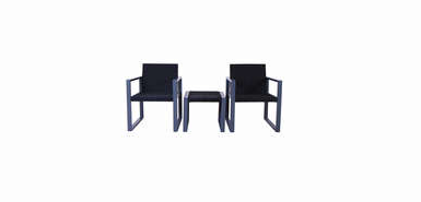 Jusqu'à 100% remboursés sur un Ensemble table et chaises SET FARO coloris gris/noir