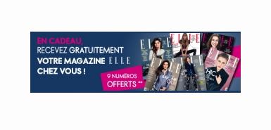 Obtenez 9 Magazines Elle en cadeau