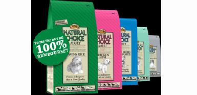 Echantillon offert: un sac de croquettes Natural Choice