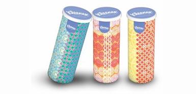 Les mouchoirs jetables Collection Tubes de Kleenex à tester gratuitement chez Famili