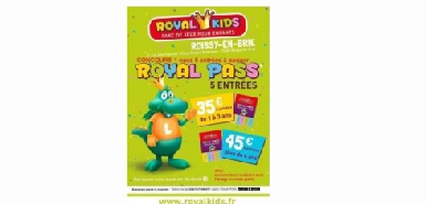 Un pass de cinq entrées pour découvrir le  parc Royal Kids à gagner avec ce jeu concours