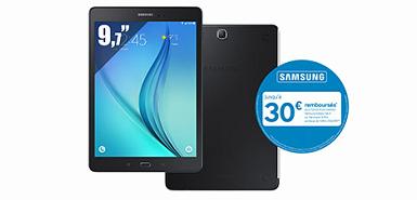 Obtenez 45€ remboursés pour l'achat d'une Galaxy Tab A 9,7