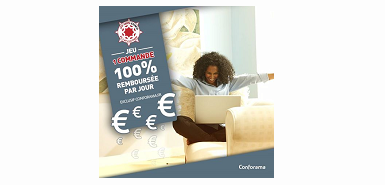 Jeu concours Conforama: votre commande est 100% remboursés
