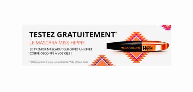 Obtenez gratuitement le Mascara Miss Hippie