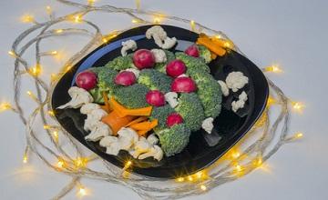 Un repas de fêtes végétarien pour Noël