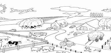 Brochure de coloriage On The farm gratuite