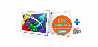 Jusqu'à 30€ remboursés pour l'achat d'une tablette A10.