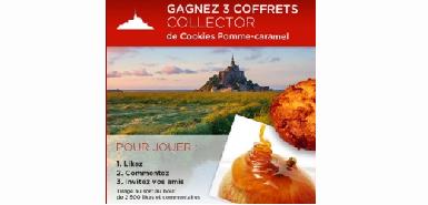 Jeu concours Montsaintmichel : 3 coffrets collector de cookies pomme-caramel à gagner