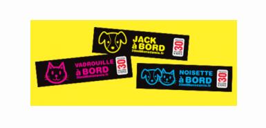 Echantillon gratuit : Sticker personnalisé animal pour voiture