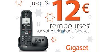 jusqu'à 12€ remboursés sur votre téléphone Gigaset
