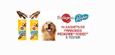 Testez gratuitement le Pedigree® Rodéo™ pour chien