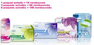 Offre Tena,15€ remboursés