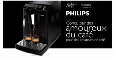 Recevez la machine Philips ou Saceo gratuitement