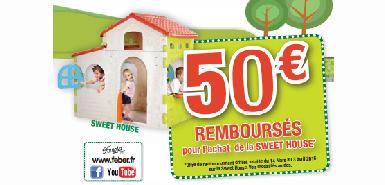 Jusqu'à 50€ remboursés sur la maison sweet house achetée