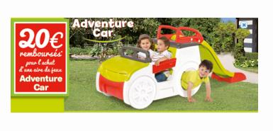 20€ remboursés en différé pour l'achat de l'adventure car