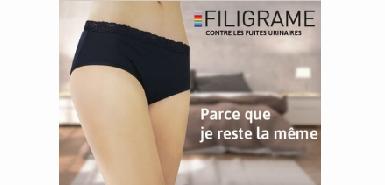 Test de produit : Culotte Filigrame contre les fuites urinaires