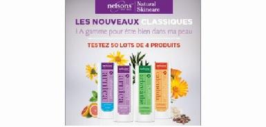 Un lot de 4 crèmes Nelsons Natural Skinscare à tester gratuitement