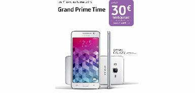 Jusqu'à 30€ remboursés pour l'achat d'un Samsung Galaxy Grand Prime 4G Blanc