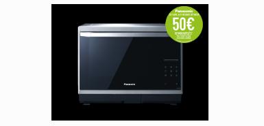 Recevez 50€ remboursés à l'achat d'un four micro-ondes combiné vapeur NN-CS894S 32 litres