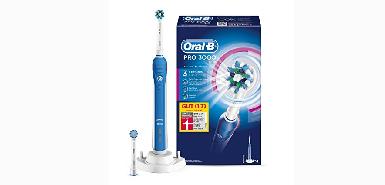 Obtenez jusqu'à 60€ de remboursement pour  Oral-B PRO 3000 CrossAction Brosse à dents electrique rechargeable