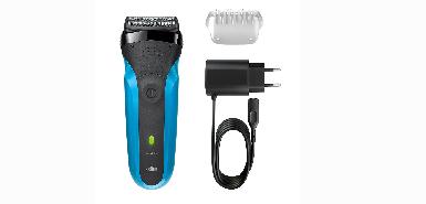 Obtenez jusqu'à 50€ de remboursement à l'achat d'un rasoir électrique rechargeable Braun Series 3 310s technologie Wet&Dry - Bleu