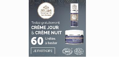 Offre Mlle Agathe:  Crème jour et crème nuit à tester gratuitement
