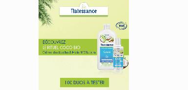 Obtenez l'huile Vierge 100 % Pure - Coco Bio de Natessance gratuitement