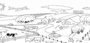 Brochure de coloriage On The farm gratuite