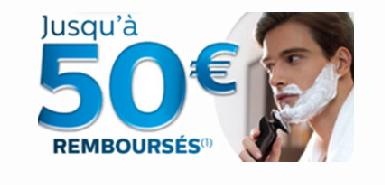 Recevez jusqu'à 50€ remboursés sur un rasoir Philips acheté