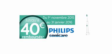 Obtenez jusqu'à 40€ remboursés sur une brosse à dents ou Air oss Philips Sonicare