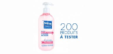 Le gel Nettoyant Mixa à tester gratuitement sur Mixa.fr