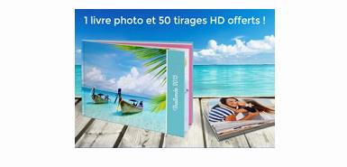 Obtenez un livre photo + tirage photo gratuitement