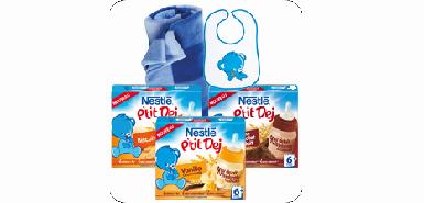 Recevez gratuitement le Nestlé P'tit Déj