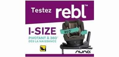 Profitez d'un siège auto REBL de Nuna gratuitement