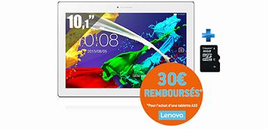 30€ rembourses pour l'achat d'une tablette A10.