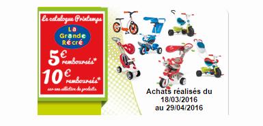 Profitez de 10€ remboursés en différé pour l'achat d'un tricycle BABY DRIVER CONFORT