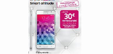 Jusqu'à 30€ remboursés pour l'achat d'un  Samsung Galaxy GRAND Prime