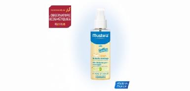 Test produit Mustela : Huile massage bébé