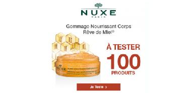 Offre Beaute-test : 100 Gommages Rêve de miel de la marque Nuxe
