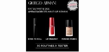 Testez gratuitement la routine make-up de Giorgio Armani Beauty chez Beauté Test