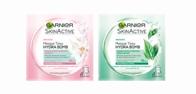 Offre Garnier : Masques Tissus Hydrabomb