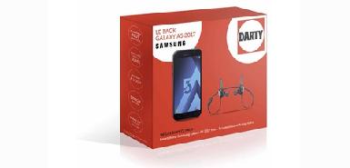 Jusqu'à 50€ remboursés sur le Smartphone SAMSUNG PACK GALAXY A5 2017 NOIR AVEC ECOUTEURS SAMSUNG LEVEL ACTIVE