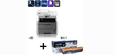 Jusqu'à 60€ remboursés sur un Pack Brother Imprimante Multifonction LED DCP-9020CDW + Toner TN-241BK Laser Noir