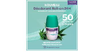 Offre Cattier: Déodorant Roll-On - Efficacité 24H