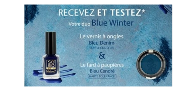 A tester gratuitement le Duo make-up Blue Winter SO'BiO étic