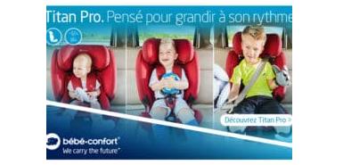 Profitez de 10 sièges-auto Titan Pro de Bébé Confort à gratuitement
