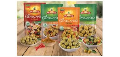 Obtenez 500 assortiments de sachets Olives Apéro Tramier en cadeau